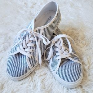 Lace-up textile sneakers women's size 6.5